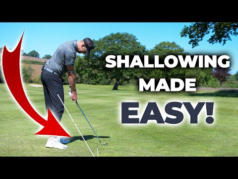 How To Shallow The Club In The Golf Swing And Hit Straight Golf Shots | ME AND MY GOLF