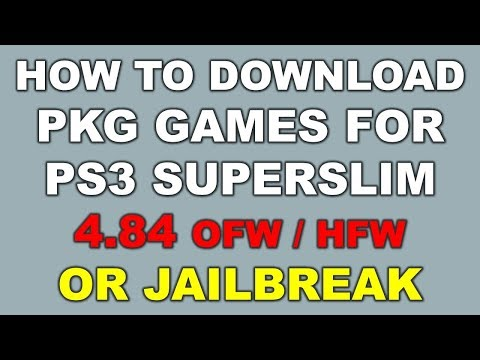 How to Download & Install PKG Games in PS3 4 84 OFW/HFW - YouTube