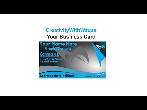 How to create business card in CorelDraw X7 by CreativityWithWaqas