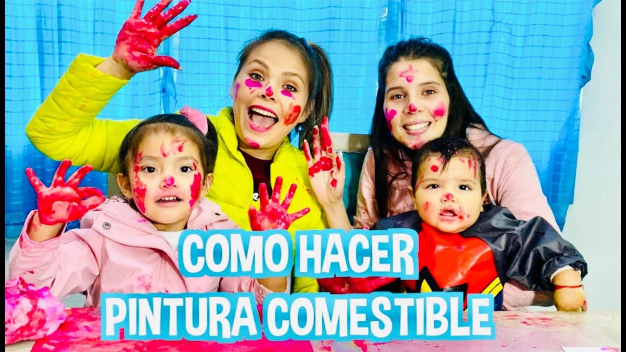 COMO HACER PINTURA COMESTIBLE ??? / LOS DESTRAMPADOS / FATIMA Y CAELI