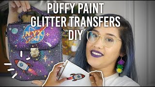 Materials needed: -Puffy paint -Glitter -Plastic sheet protectors o...