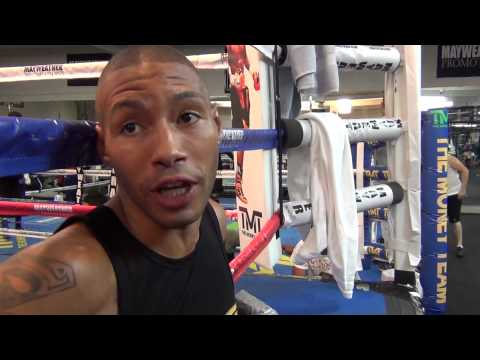 Ashley Theophane on training in Las Vegas, learning from Floyd Mayweather