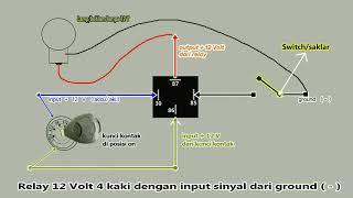 Cara Kerja Dan Memasang Relay 12v 4 Pin Pada Mobil (part 2)