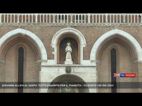 GIOVANNI ALLEVI AL SANTO, TUTTO ESAURITO PER IL 'PIANISTA - FILOSOFO' | 10/06/2021