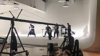 Съемки музыкального клипа на циклораме. Павильон www.циклорама.москва