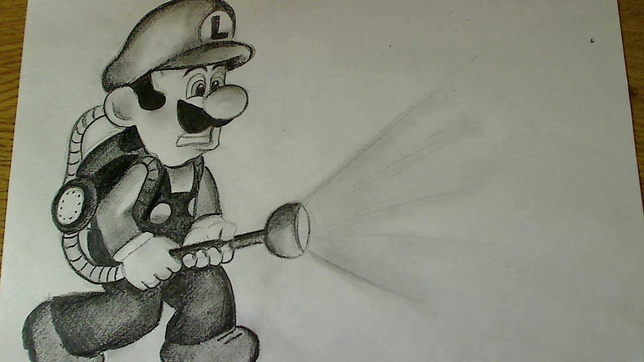 How To Draw Luigi Luigi S Mansion Dark Moon Youtube