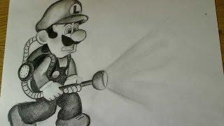 How to draw Luigi - Luigi