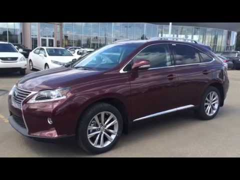 2015 Lexus RX 350 AWD 4dr Sportdesign Edition Review - Red on Black - Northwest Edmonton