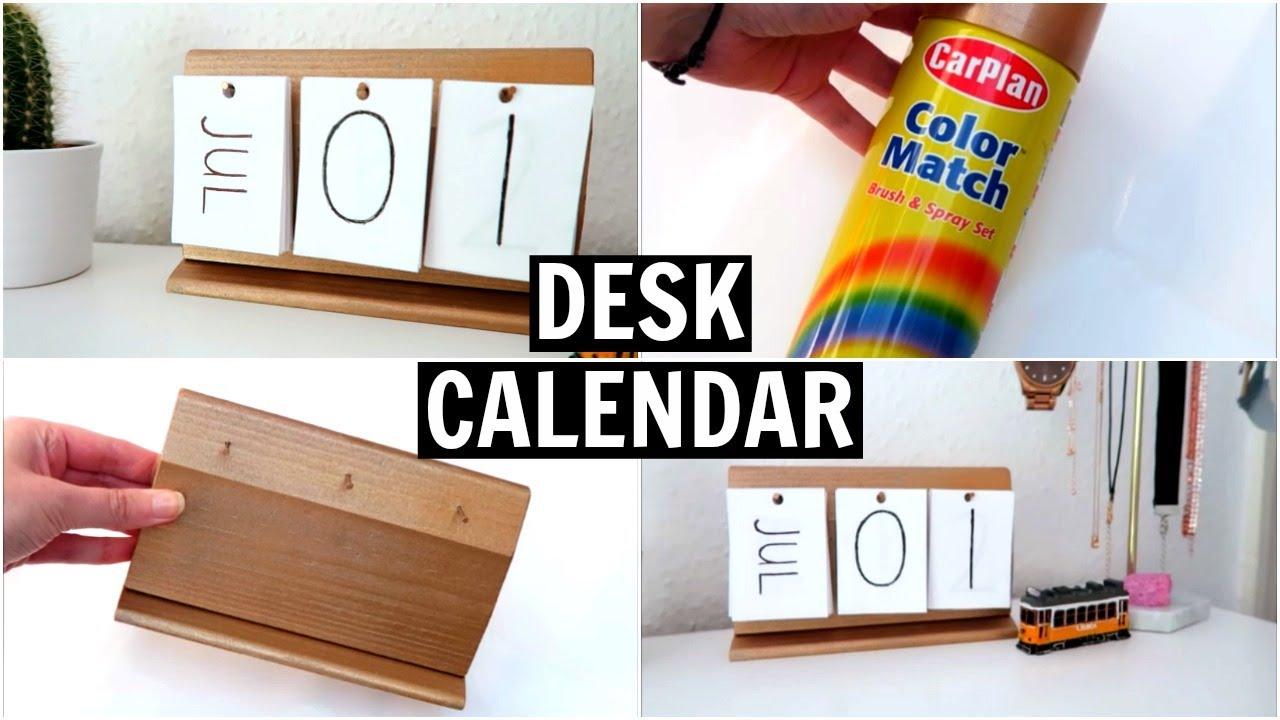 Diy Calendar Laurdiy : Diy desk calendar laurdiy and nim c inspired youtube