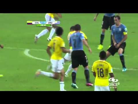 GOLAZO de James Rodríguez Colombia 2 0 Uruguay (Brasil 2014) 28 de junio de 2014