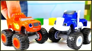 PLAYSET WARS! Fisher-Price Toys - Blaze and The Monster Machines Demo!