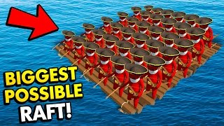 BIGGEST POSSIBLE RAFT IN STUPID RAFT BATTLE SIMULATOR! (Stupid Raft Battle Simulator Funny Gameplay)