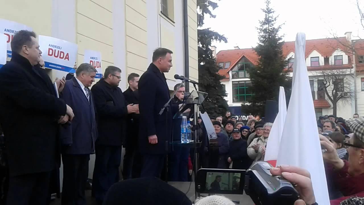 Andrzej Duda - Bielsk Podlaski 22.03.2015 - YouTube