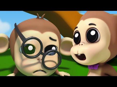 Пять маленьких обезьян | Детские песни | Детские рифмы | Nursery Rhyme | Five Little Monkeys
