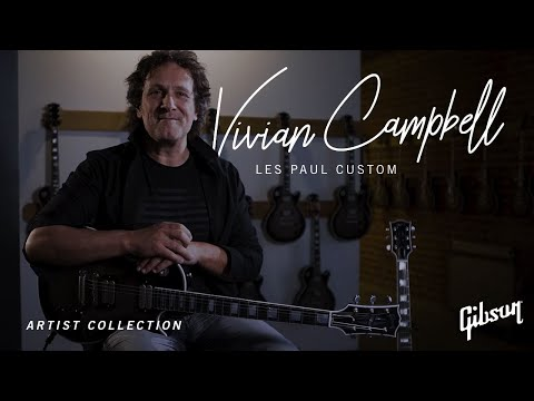Vivian Campbell on his Signature Gibson Custom Les Paul and his long time love for Les Pauls