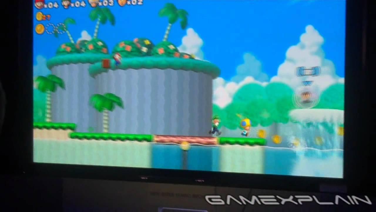 New Super Mario Bros Mii Wii U E3 2011 Gameplay Youtube