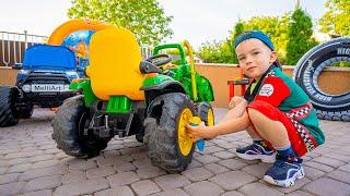 Артур и Трактор / Артур помогает фермеру и чинит поломанный трактор