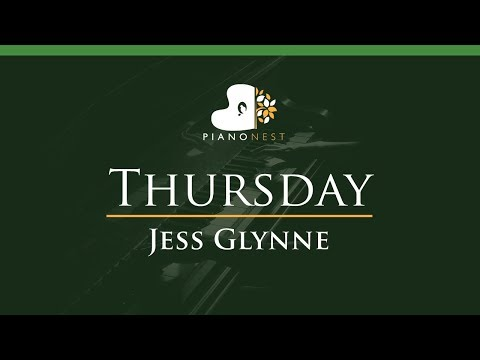 Jess Glynne - Thursday - LOWER Key (Piano Karaoke / Sing Along)