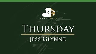 Jess Glynne - Thursday - LOWER Key (Piano Karaoke / Sing Along)