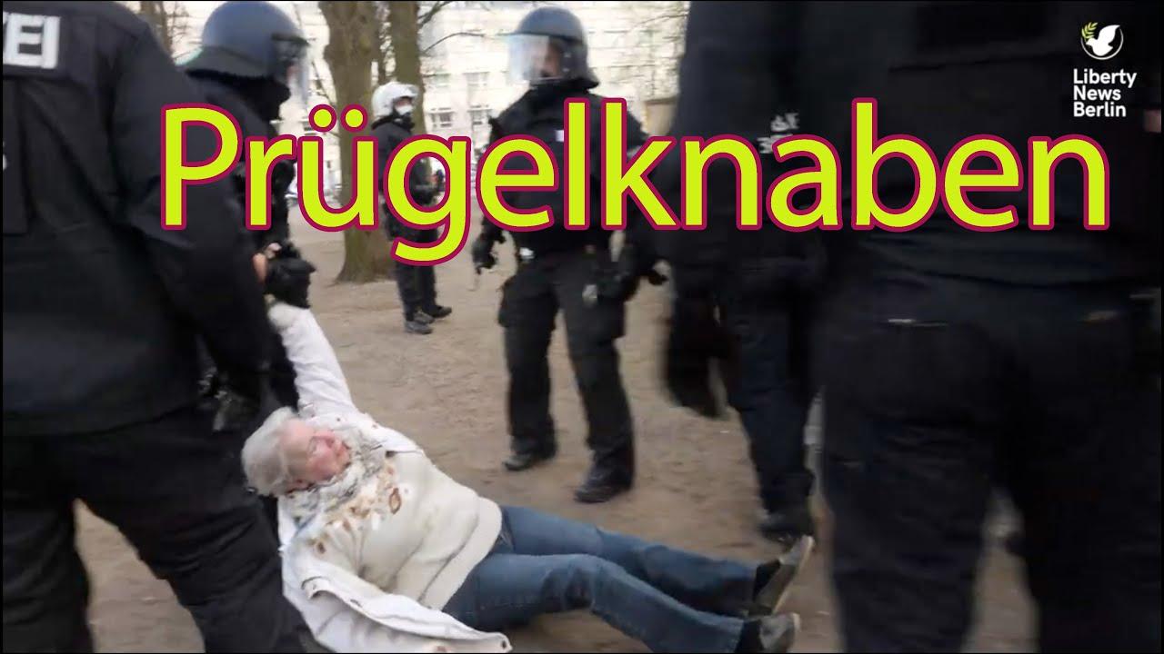 Mit Fäusten gegen die Demokratie –so brutal geht Berlins Polizei gegen Demonstranten vor