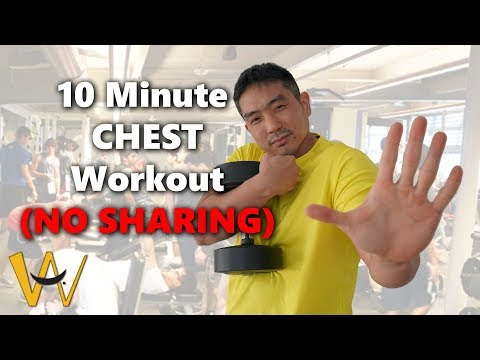 10 Minute Chest Workout - Follow Along (NO SHARING EQUIPMENT)