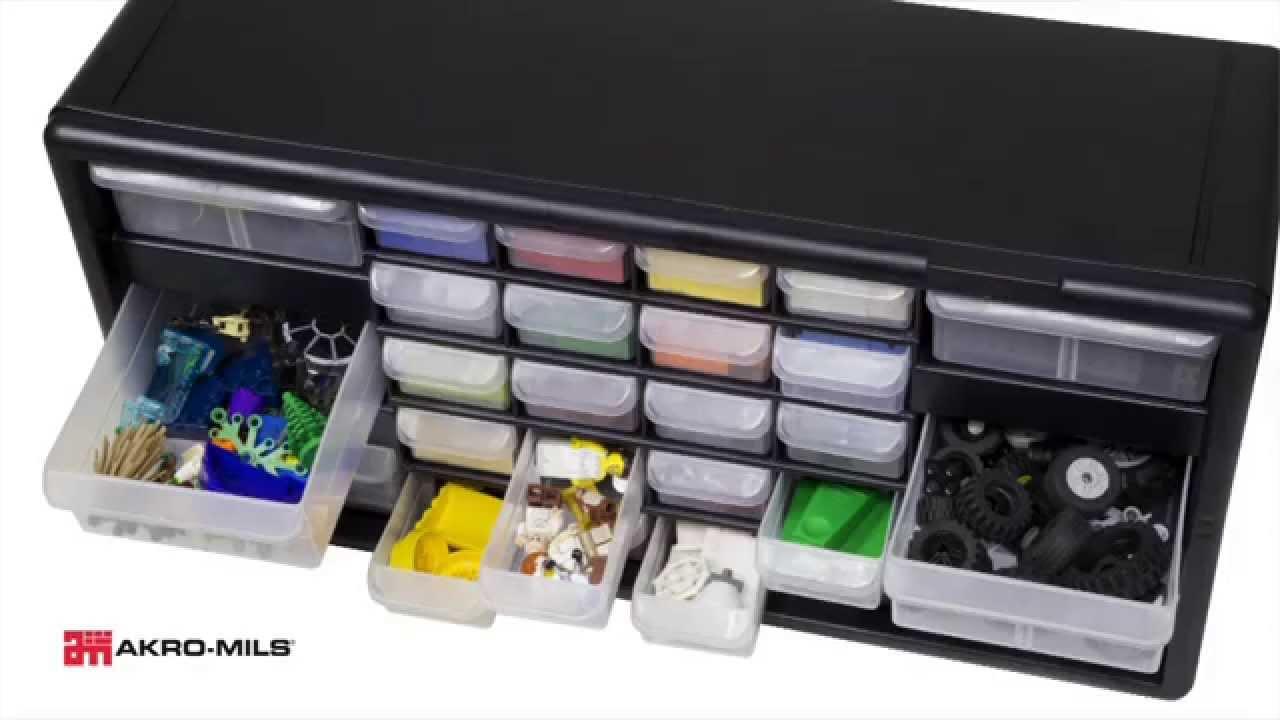 Akro-Mils Plastic Storage Cabinets & Akro-Mils Plastic Storage Cabinets - YouTube