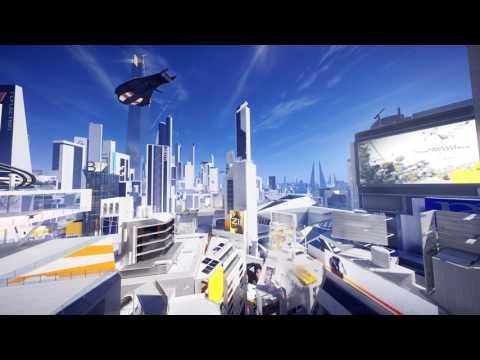 Futuristic City Ambience - Mid-day (Mirror's Edge Catalyst) 4K