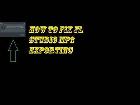 How To Fix FL Studio mp3 Exporting Problem (encoding stream)