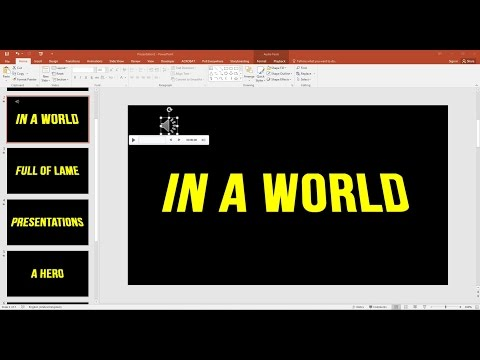 How To Add A Soundtrack To Your PowerPoint Presentation