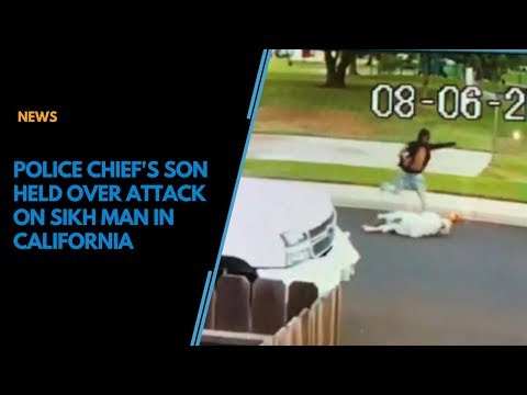 CCTV footage: Police chief's son kicks, robs elderly Sikh in California, arrested