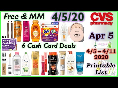CVS 4/5/20 - 4/11/20 | 6 Cash Card Deals, Some Freebies |  Excited 4 Coupons