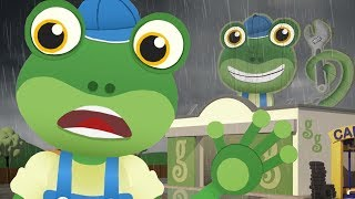 Rainy Day At Gecko's Garage - Gecko's Garage | Buses For Kids | Educational Videos | Cartoon