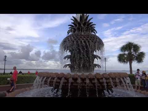 Charleston, South Carolina - Waterfront Park Pineapple Fountain HD (2017)