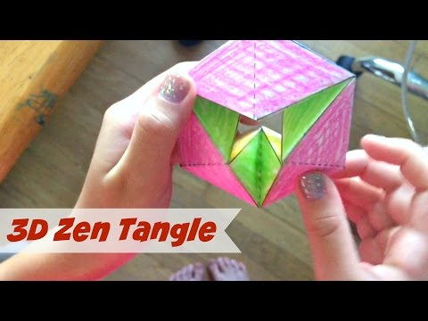 Tutorial: Easy and Fun 3D ZenTangle || DIY Origami Paper Sculpture