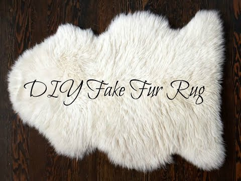 Quick and easy diy Fake Fur Rug or Blanket