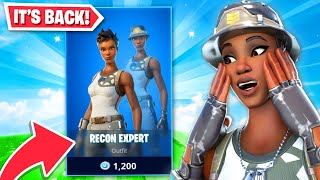 *NEW* Recon Expert RETURNS to Fortnite! (RAREST SKIN)