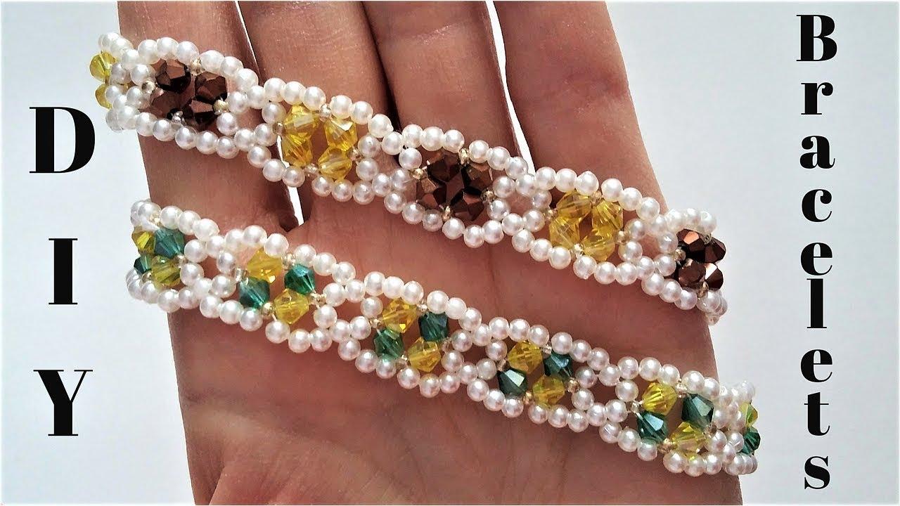 ELEGANT jewelry making. Beading tutorial. DIY Birthday ...