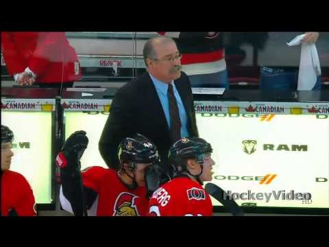 Paul MacLean time-out with a 6-1 lead and few seconds left in the game . May 5, 2013