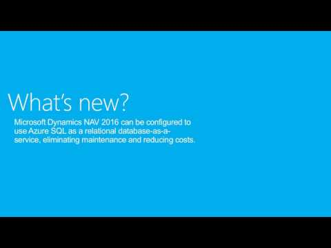 What Is New In Microsoft Dynamics NAV 2016