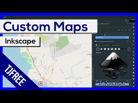Inkscape - Custom SVG Maps From OpenStreetMap
