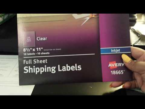 56, Printing on Clear Sticker Paper Tutorial