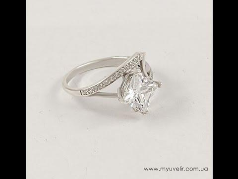 кольцо с квадратным камнем