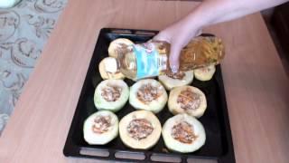 Фаршированные кабачки с курицей и сыром в духовке - вкусные рецепты на скорую руку