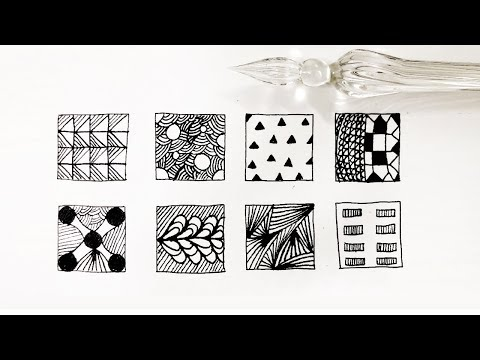 Basic Zentangle Patterns | Doodle | Mandala | DIY Paper Craft