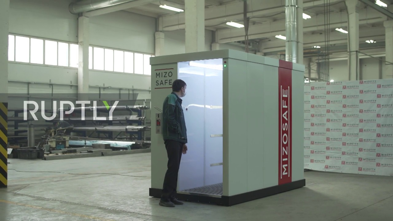 Russia: Penza plant showcases disinfection tunnels set up to protect Putin from COVID-19