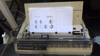 Dot matrix printer in action