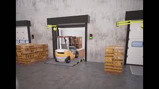 Dock Technik - Inflatable Dock Shelter Telescopic Lip Dock Leveller