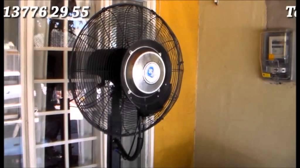 Ventilador con agua nebulizada youtube - Ventilador de agua ...