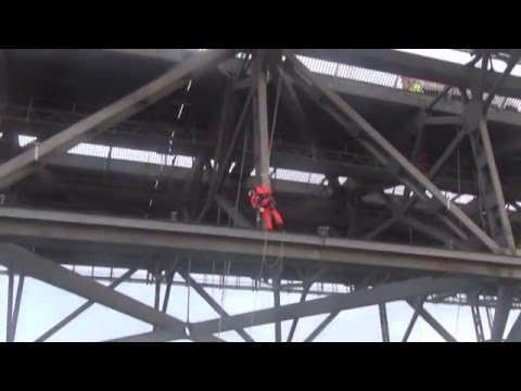 Rope access on Forth Road Bridge