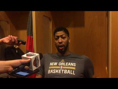 Pelicans F Anthony Davis after Saturday's 96-83 loss to the Mavericks